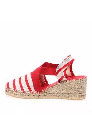 Toni Pons /Red Tarbes Kadın Sandalet Kırmızı