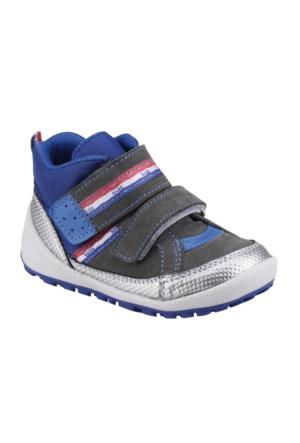 I Cool 346 Gri Erkek Çocuk Deri Ayakkabı