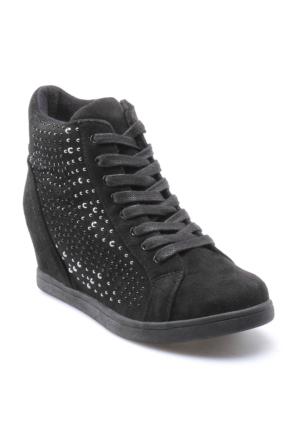 Art Bella C17091 Siyah Kadın Gizli Ökçe Ayakkabı