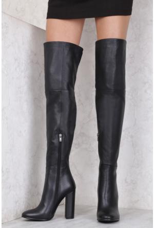İlvi Meghan 16106 Çizme Siyah Deri