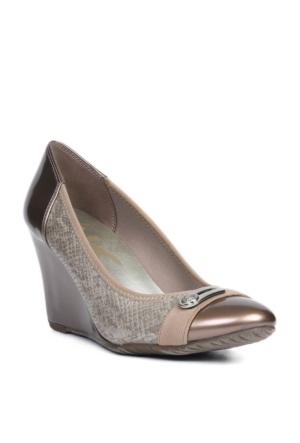 Anne Klein Kadın Ak7Toller3 Altın Suni Deri Ayakkabı