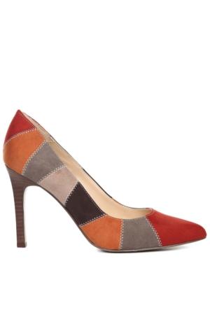 Nine West Kadın Shayley2O Kırmızı - Gri Multi Kumaş Ayakkabı