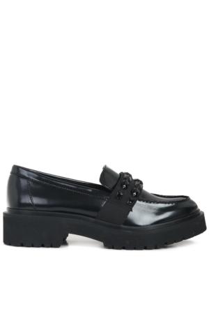 Nine West Kadın Nwafelia3 Siyah Suni Deri Ayakkabı