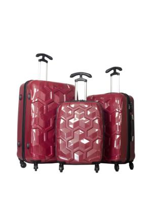 U.S. Polo Assn. PLVLZ6040 Kadın Valiz Ve Seyahat Çantası Seti Bordo