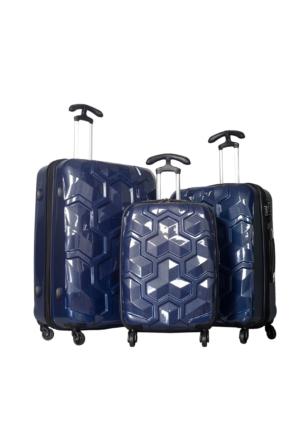 U.S. Polo Assn. PLVLZ6039 Kadın Valiz Ve Seyahat Çantası Seti Lacivert