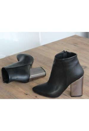 I Love Shoes Starlet Gümüş Topuk Detaylı Bootie