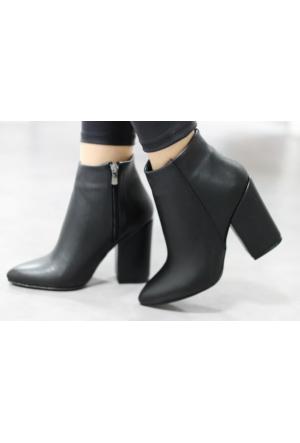 I Love Shoes Starlet Siyah Topuk Detaylı Bootie