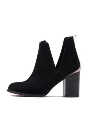 I Love Shoes Velez Siyah Yanı Açık Detaylı Bot