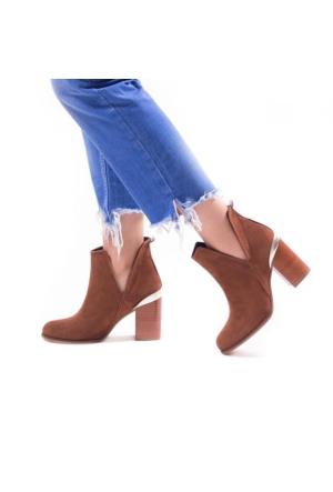 I Love Shoes Velez Taba Yanı Açık Detaylı Bot