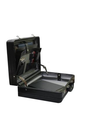 obtech James Bond Model Çift Körük Kaliteli Deri Evrak Ofis Laptop Çantası