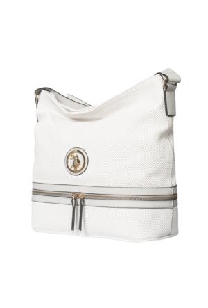 U.S. Polo Assn. US6166 Kadın Çapraz Çanta Beyaz