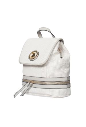 U.S. Polo Assn. US6167 Kadın Çapraz Çanta Beyaz