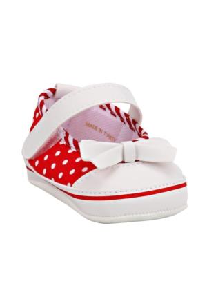 Pink Step Daisy-5 Kırmızı Kız Bebek İlkadım Ayakkabı