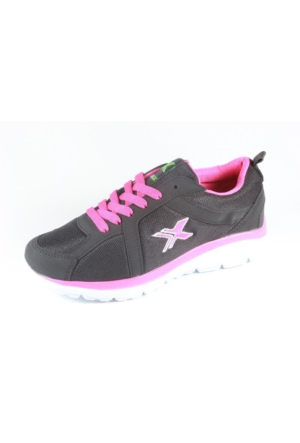 Rotax-211-72 Siyah Fuşya Bayan Spor Ayakkabı