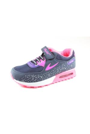 Feybıl Lacivert Fuşya Kız Çocuk Spor Ayakkabı