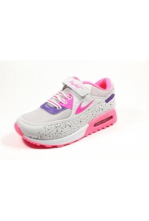 Feybıl Beyaz Fuşya Kız Çocuk Spor Ayakkabı
