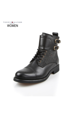 Tommy Hilfiger Fw56821472-990 B1285Ologna 1C Mid Boot Black Bot