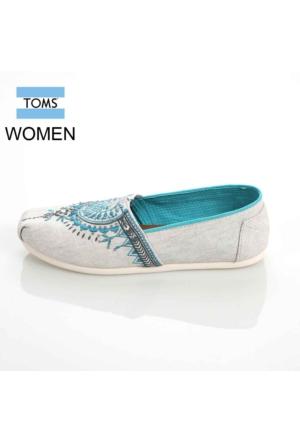 Toms 10008010 Lt Grey Beaded Embroidery Wm Alpr Esp Ayakkabı
