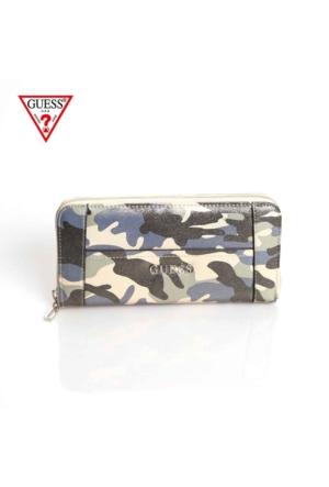 Guess Swcm45 35460 Delaney Slg Large Zip Around Camouflage Cüzdan