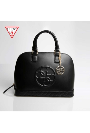 Guess Çanta Hwamy1 L5238 Guess Amy Dome Satchel Black