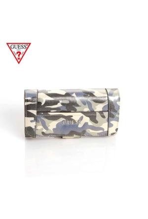 Guess Swcm45 35590 Delaney Slg File Clutch Camouflage Cüzdan