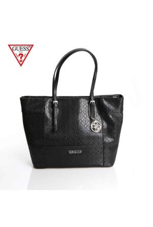 Guess Çanta Hwge45 35230 Delaney Medium Classic Tote Black