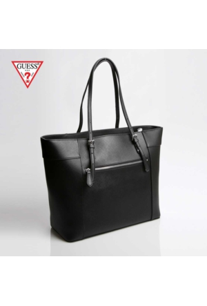Guess Çanta Hwve45 35230 Guess Delaney Medium Classic Tote Black