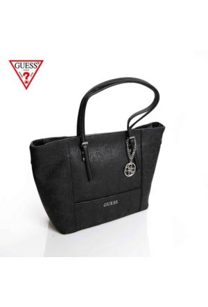 Guess Çanta Hwhl45 35230 Delaney Medium Classic Tote Black