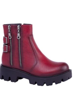 Slazenger Ummi Bot Kadın Ayakkabı Bordo