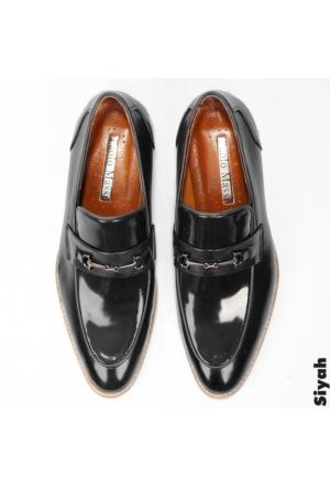 Siyah Rugan Neolit Taban Demir Tokalı Erkek Ayakkabı 1602034-002 Deepsea