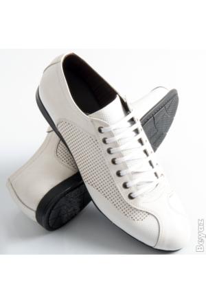 Beyaz Rugan Deri Erkek Spor Ayakkabı 1519012-001 Deepsea