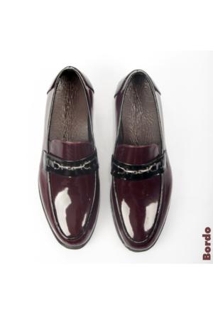 Bordo Rugan Yüksek Taban Tokalı Erkek Ayakkabı 1602040-016 Deepsea