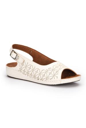 Polaris 71.157332.Z Beyaz Kadın Sandalet