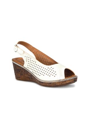 Polaris 71.157340.Z Beyaz Kadın Sandalet