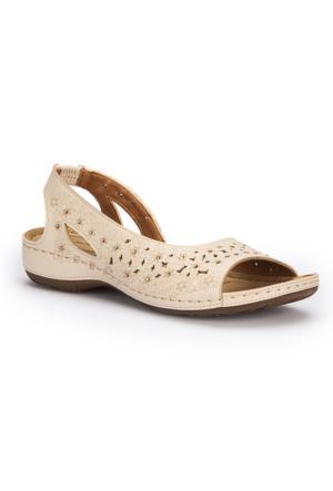 Polaris 71.157363.Z Bej Kadın Sandalet