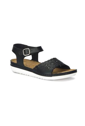 Polaris 71.157370.Z Siyah Kadın Sandalet