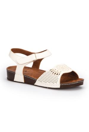 Polaris 71.157373.Z Beyaz Kadın Sandalet