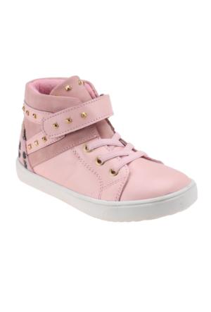 Seventeen 321 Pembe Kız Çocuk Deri Sneaker