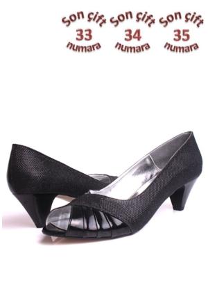 Loggalin 521319 031 073 Kadın Siyah Abiye Ayakkabı