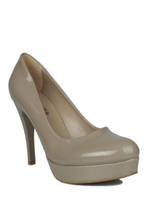 Loggalin 580501 031 324 Kadın Koyu Bej Platform Ayakkabı