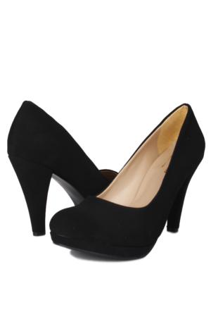 Loggalin 580401 031 008 Kadın Siyah Nubuk Platform Ayakkabı