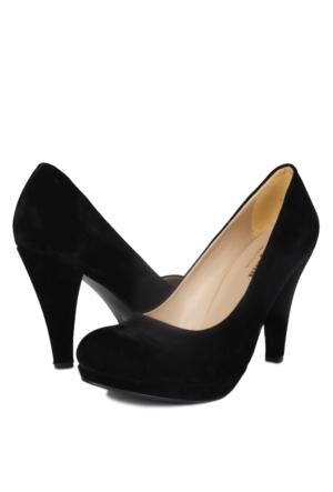 Loggalin 580401 031 009 Kadın Siyah Kadife Platform Ayakkabı