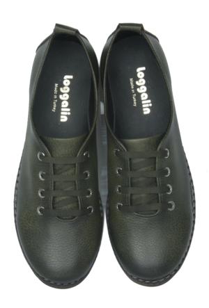 Loggalin 620178 031 677 Kadın Yeşil Günlük Ayakkabı