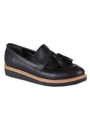 İnce Topuk Oxford Püsküllü Ayakkabı