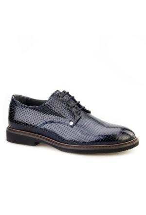 Lazerli Günlük Erkek Ayakkabı Lacivert Rugan Cabani