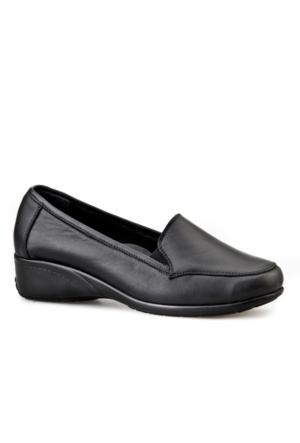 Cabani Shock Absorber Kadın Ayakkabı Siyah Analin Deri
