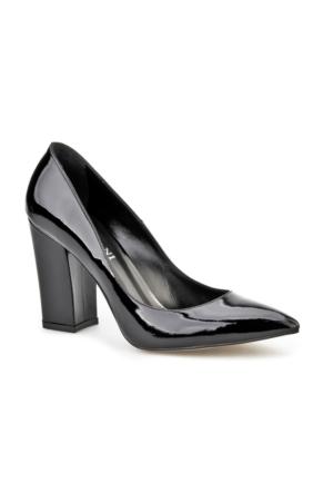 Cabani Lita Topuk Günlük Kadın Ayakkabı Siyah Rugan