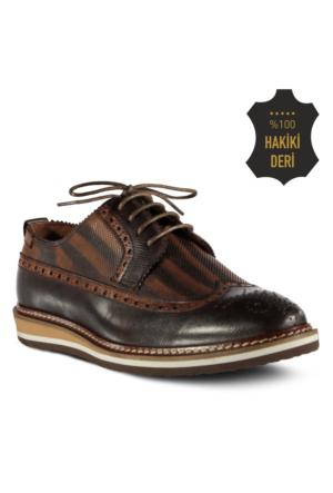 Marjin Laven Düz Deri Erkek Ayakkabı Kahve