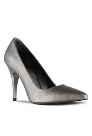 Marjin Esiyso Topuklu Ayakkabı Platin