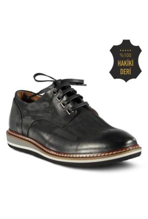Marjin Vater Düz Deri Erkek Ayakkabı Siyah